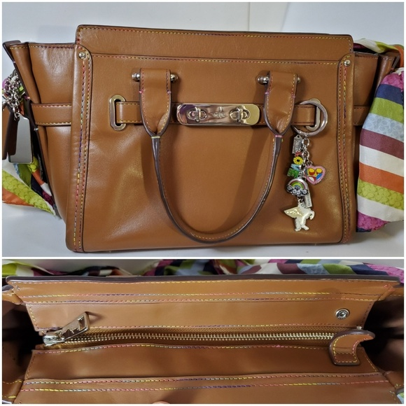 Coach Handbags - Coach Multicolor Rainbow Swagger Leather Bag
